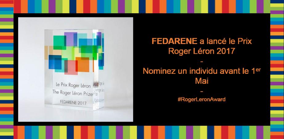 Bannière Fedarene Prix Roger Léron 2017